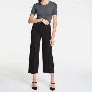 Ann Taylor Wide Leg Knit Crop Pant